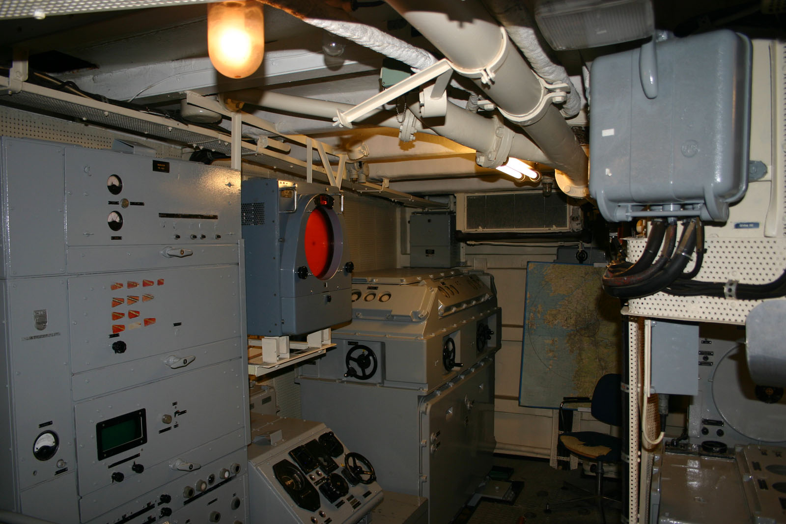 Command centre of a destroyer..