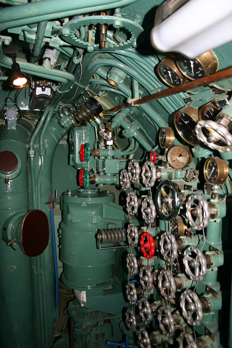 A station in a submarine.