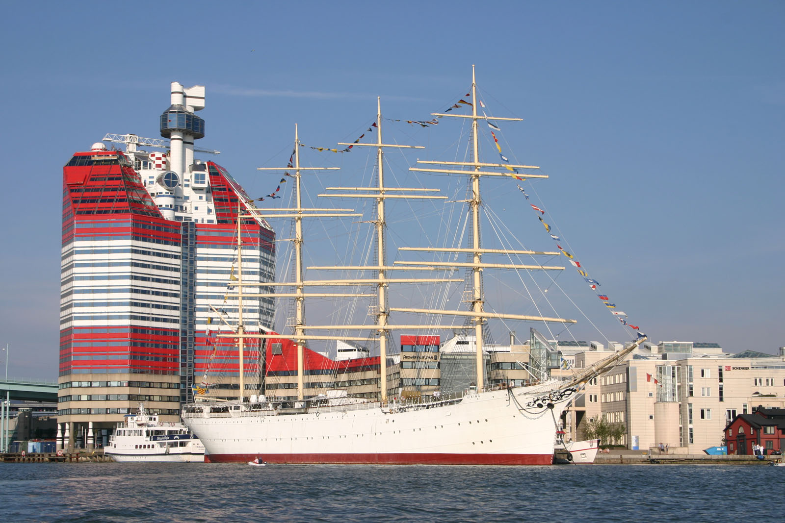 Sailing ship, now hotel..