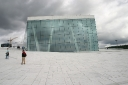 Onto the roof of the Oslo Opera..