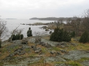 The rocky south Swedish shoreline..