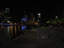 Southbank walkway by night