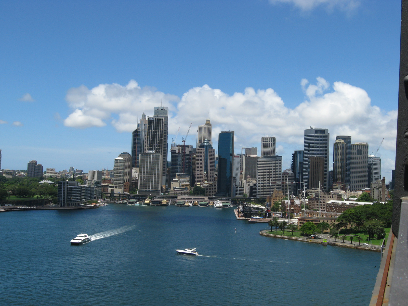 Sydney Cove and the business district in the background..