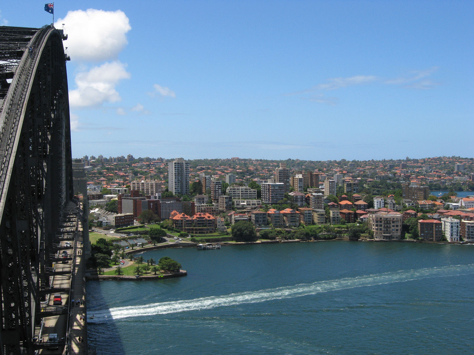 Overlooking the northern suburb Kirribilli