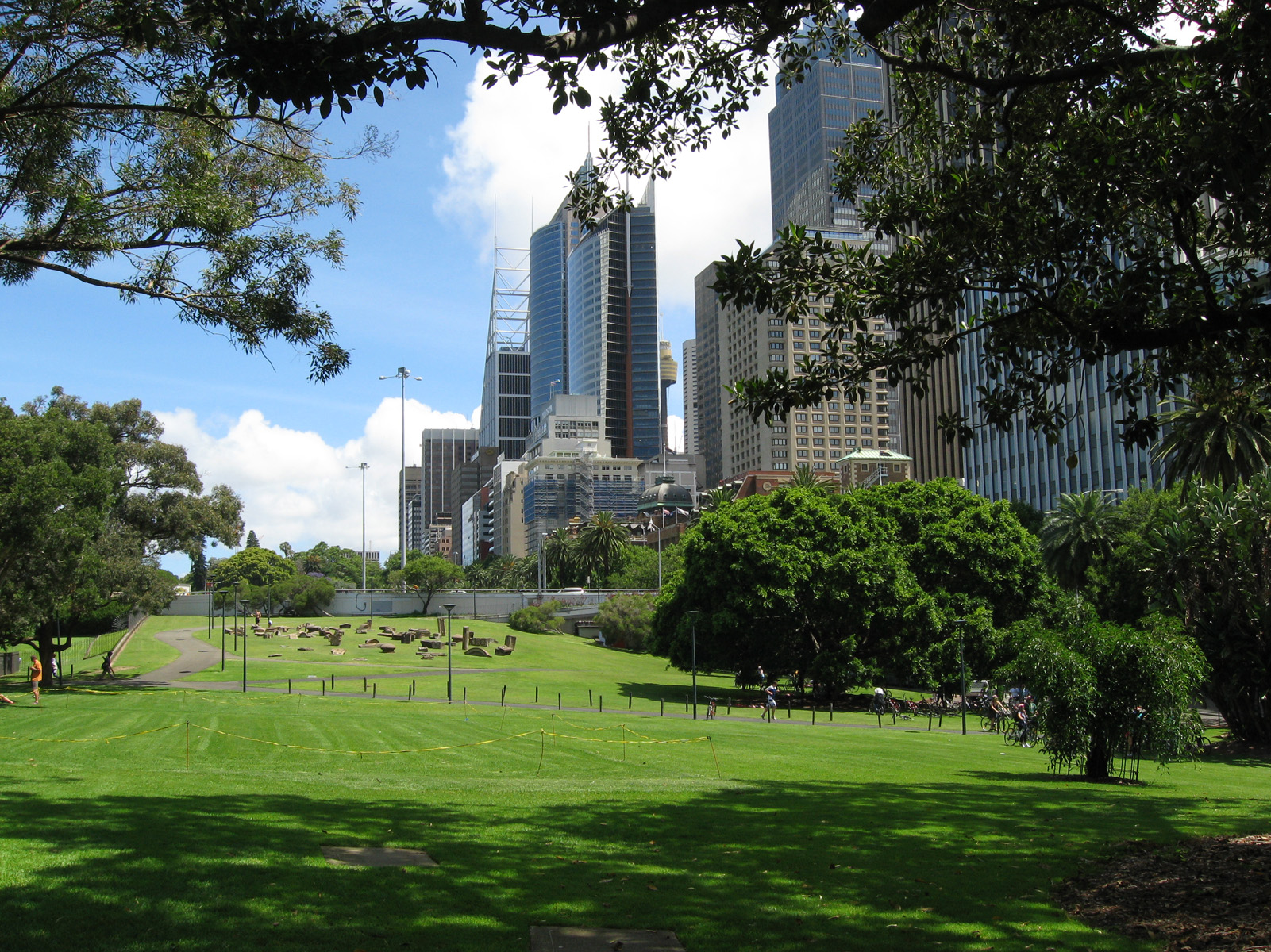 City centre from the botanical gardens